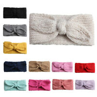 Baby Kids Girl Knit Bow Headband Hair Band Head Wrap Crochet Cotton Accessories