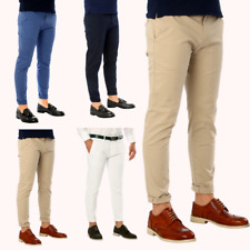 Pantalone Uomo Cotone Pantaloni Chino Jeans Slim Fit Casual Tasca America esprez