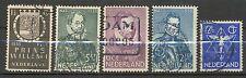 Nederland NVPH 252 - 256 gebruikt (5)