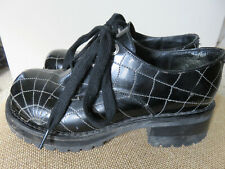Vtg 90s Muro Spider Web Chunky Platform Club Goth Rave Grunge Shoes Us 5