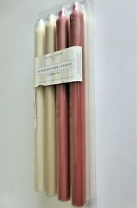 """8 ALAURA CANDLES, 11 ½"""" TAPERS, SMOKELESS, DRIPLESS, MULI-COLOR, GERMANY, NIB"""