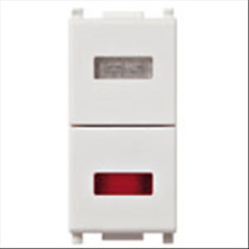 Vimar Plana Double Lights White - Red White 14388.br