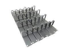 "7 x Unbranded/Generic 1U Black Cable Management Bars for 19"" Racks"