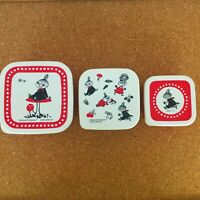 Moomin Lunch Box 3P Set Little My Mushroom Container Box