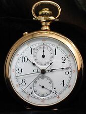 Gold-Filled C.L. Guinand Split-Second Rattrapante Pocket Watch with Register