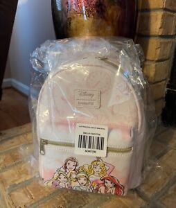 Loungefly Disney Princess Icons Mini Backpack Belle Ariel Rapunzel Cinderella