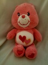 Care Bears Pink LOVE a LOT Bear Rattle Plush Baby Toy 2004 10""