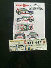 DECALS 1/24 TOYOTA COROLLA AURIOL RALLYE MONTE CARLO 1999 WRC RALLY
