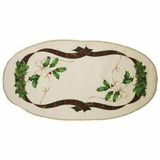 """Lenox Holiday Nouveau Holly and Ribbon 30"""" Table Centerpiece"""