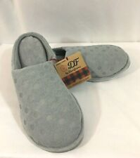 Dearfoams Clog Slipper Embossed Polka Dot Women's Gray (7-8)  (9-10 )(11-12)
