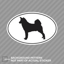 Canaan Euro Oval Sticker Decal Vinyl dog canine pet