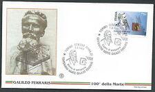 1997 ITALIA FDC FILGRANO GALILEO FERRARIS NO TIMBRO ARRIVO - SV3