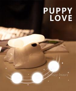 Children Bedroom Bedside Night Light Lovely Puppy Dog Baby LED USB Charger Lamp