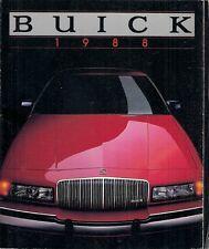 Buick 1988 Canadian Sales Brochure Skylark Century Regal LeSabre Electra Riviera