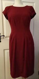 JIGSAW Dress Lined Size 10 Burgundy 99% Viscose BNWT RRP £139