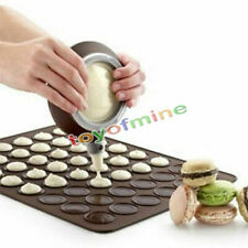 30-cavity Silicone Pastry Cake Macaroon Oven Baking Mould Sheet Mat
