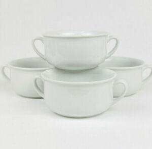 "Williams Sonoma Ceramic Essential White 5.25"" Soup Bowl 2 Handles Pick How Many"
