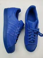 Adidas Mens Size 11.5 Superstar Adicolor S80327 Blue New Without Box