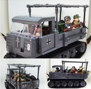 Ros cars & 3 pcs Minifigures Soldier Weapons - WW2 Army Police Toys lego MOC