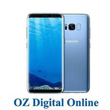 "NEW Samsung Galaxy S8+ Plus G955 64GB Blue 4G 6.2"" Unlocked Phone 1 Year Aus Wty"