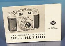 Agfa Super Silette Gebrauchsanleitung german manual - (92510)