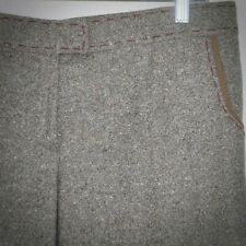 Stella McCartney Brown Tweed Wool Pants 44 US 8 Grosgrain Trim Zip Pockets