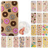 Rubber Pattern Soft TPU Silicone Back Case Cover For Apple iPhone 5 6s 7 8Plus X