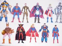 DC Direct Superman Justice League deluxe action figures Kenner