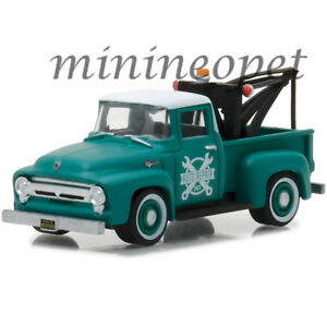 GREENLIGHT 97020 A 1956 FORD F-100 TOW TRUCK 1/64 with DROP-IN TOW HOOK GREEN