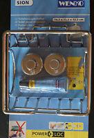 WENKO SION Toilettenpapierhalter ohne Bohren ohne Deckel silber Toilette Papier