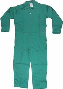 Size 3XL Condor Flame Resistant Green Coveralls Welding Jumpsuit 100% Cotton