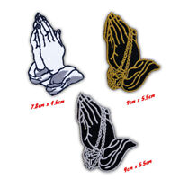 Praying hand biker badges collection Iron or Sew on Embroidered Patch
