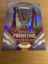 2020 SELECT FOOTY STARS BRISBANE LIONS SILVER PREMIERSHIP PREDICTOR #PP4