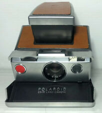 Vintage Polaroid SX-70 Land Camera Brown Tan Leather Untested Rare Classic