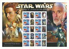 Australia Star Wars Souvenir Sheet Attack of the Clones mnh