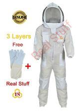 3 layers Ultra Ventilated beekeeping beekeeper Ful Suit Fancy Veil  (2XL)