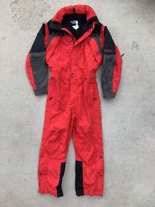 The North Face Extreme Gear One Piece Ski Bib Snowsuit Vtg Men's MEDIUM Suit
