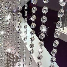 String Curtain Room Divider Crystal Bead Door Window Panel Wedding Home Pop.