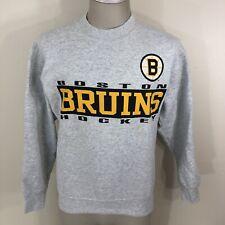 Vintage 90s Salem Sportswear Boston Bruins Gray Sweatshirt Unisex Adult S/M NHL