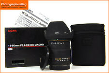 Sigma DC Ex Macro 18-50mm F2.8 AF Zoom Lens. Canon EOS + Free UK Postage