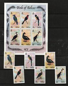 BELIZE 1978 SET, BIRDS PLUS M.S.   M.N.H.