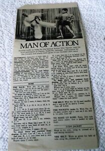 VINTAGE WOMAN'S WEEKLY 'MAN of ACTION' ACTION MAN ROBE/JUDO KNITTING PATTERN