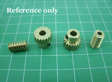 Motor Output Copper Worm Wheel Gear 0.5 Modulus Reduction Ratio of 1:10 DIY New