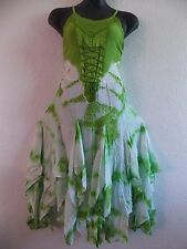 Green Holiday Dress XL 1X Plus Corset Lace Up Chest Layered Flared Hem NWT b209