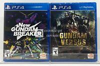 New Gundam Breaker + Gundam Versus - PS4 - Brand New | Factory Sealed