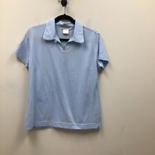 Nike Golf Dri Fit Womens Polo Shirt Blue Short Sleeve Cotton Blend M New