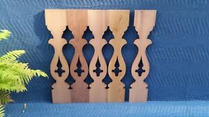 LANCASTER CEDAR FLAT SAWN PORCH/DECK BALUSTER - VICTORIAN  (SAMPLE OR QUANTITY)