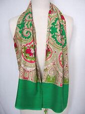 Oilily Schal NEU Oriental Grün Ornament Muster für Jacke Mantel Damen scarf