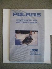 Polaris Snowmobile Indy Sport/Indy Transport Owners Manual 1996 Nos!