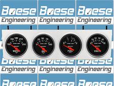 Billet Aluminum 4 Gauge Under Dash Instrument Panel w/ Auto Meter Sport Comp